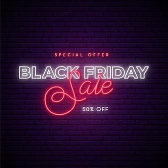 Concepto de banner de venta de viernes negro