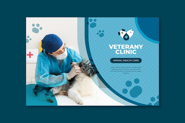 Concepto de banner veterinario