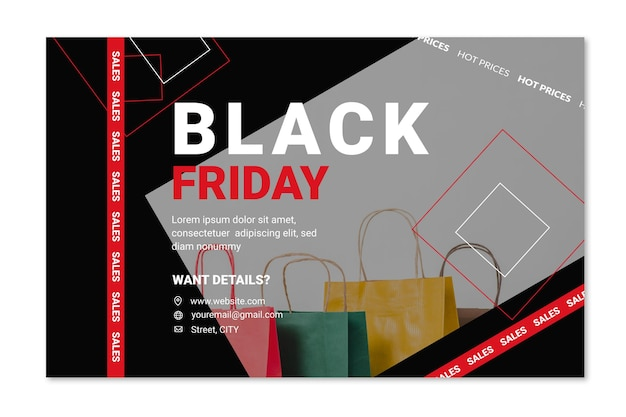 Concepto de banner de viernes negro