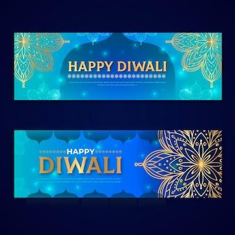 Concepto de banners de diwali