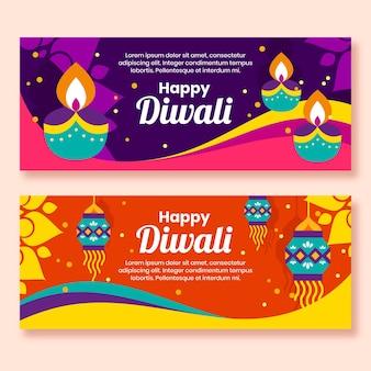 Concepto de banners de feliz diwali