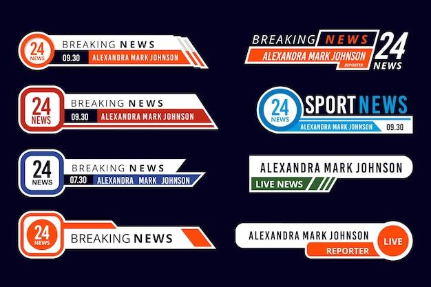Concepto de banners de noticias de última hora