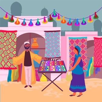 Concepto de bazar árabe