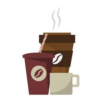 Concepto de bebidas de café