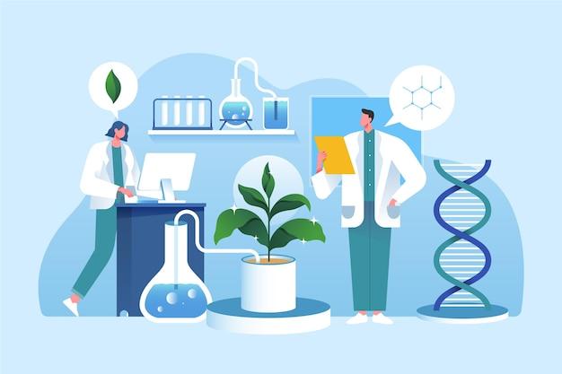 Concepto de biotecnología degradado