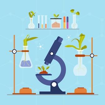 Concepto de biotecnología plana