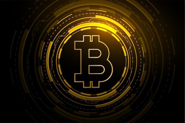 Concepto de blockchain de moneda criptográfica de tecnología bitcoin