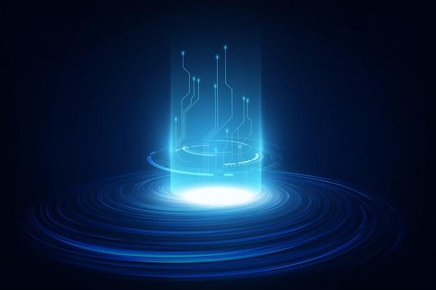 Concepto de blockchain de red de circuito abstracto