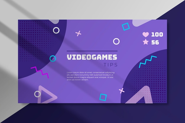 Concepto de blog de banner de videojuegos