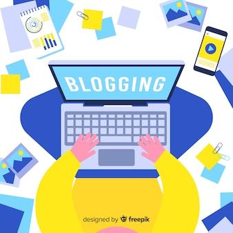Concepto de blogging