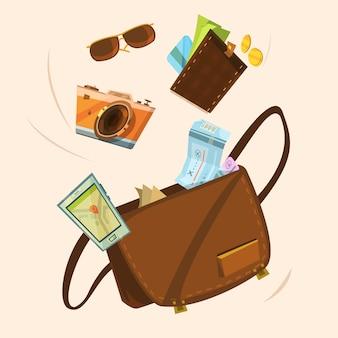 Concepto de bolsa turística