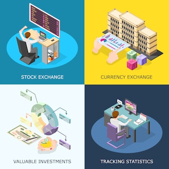 Concepto de bolsa de valores
