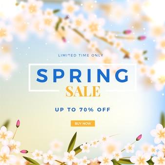 Concepto borroso para la venta de primavera