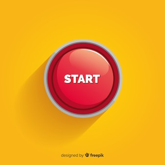 Concepto de botón rojo de start