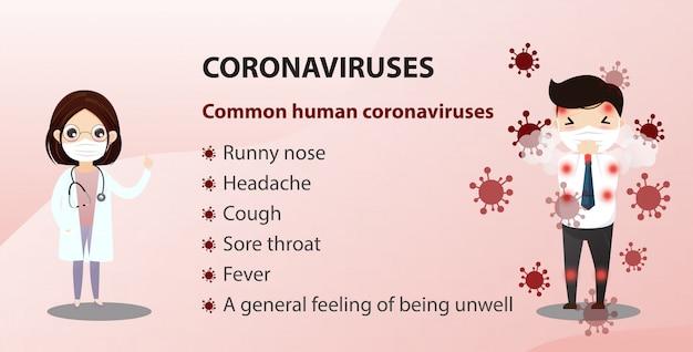 Concepto de brote de coronavirus de wuhan.