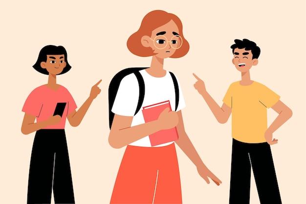 Concepto de bullying con niños
