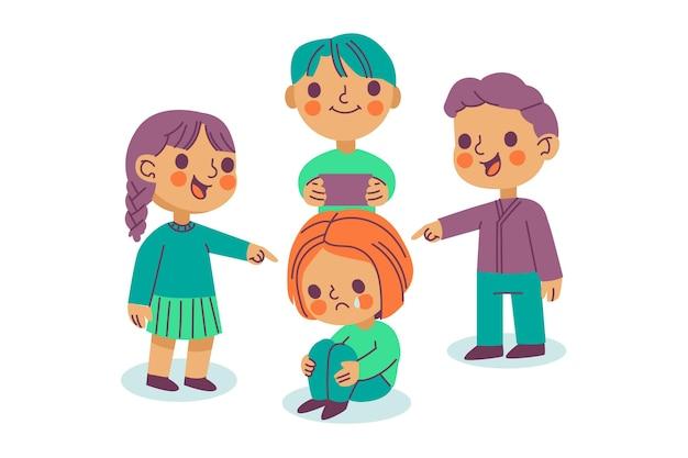 Concepto de bullying de personas