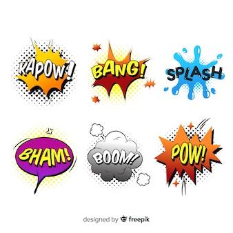 Concepto de burbujas de texto de comic coloridas