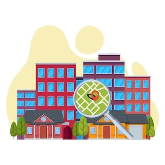 Concepto de búsqueda inmobiliaria