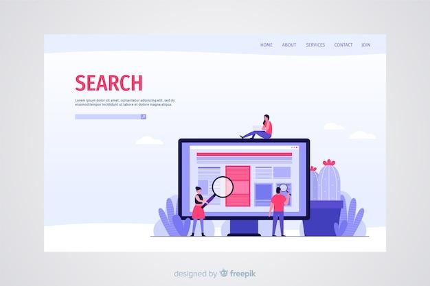 Concepto de búsqueda para landing page