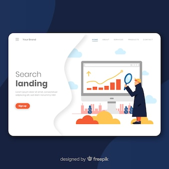 Concepto de busqueda para landing page