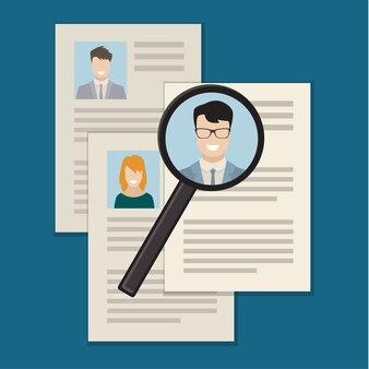 Concepto de búsqueda de personal profesional