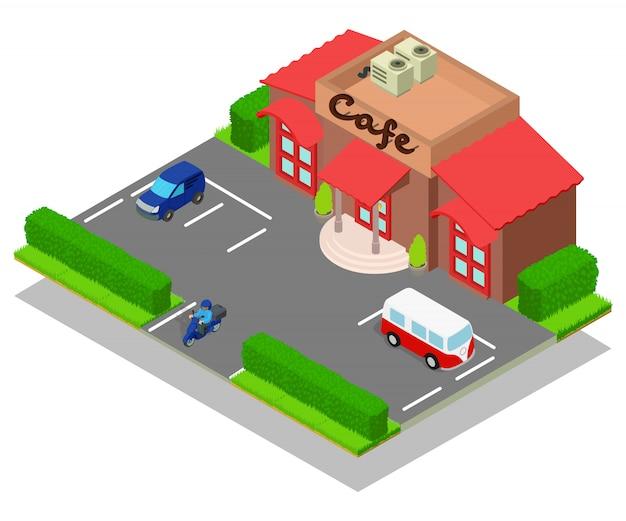 Concepto de cafe escena