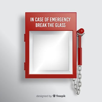 Concepto de caja de emergencia vacía