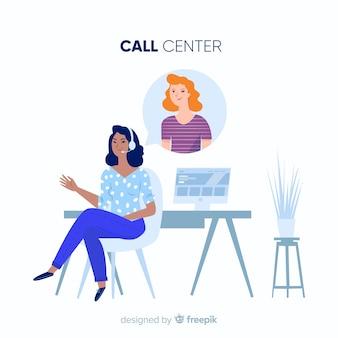 Concepto de call center