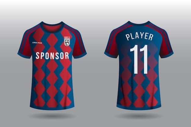 Concepto de camiseta de fútbol