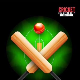 Concepto de campeonato de cricket.