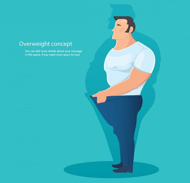 Concepto de carácter sobrepeso