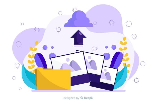 Concepto de carga de imagen para la página de destino