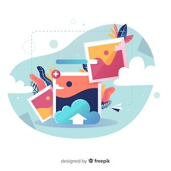 Concepto de carga de imagen de página de destino
