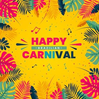 Concepto de carnaval brasileño de diseño plano