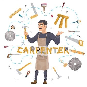 Concepto de carpintería redonda