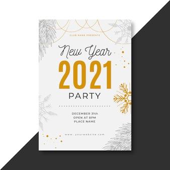 Concepto de cartel de año nuevo 2021
