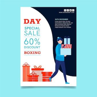 Concepto de cartel de boxing day a4