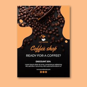 Concepto de cartel de cafetería