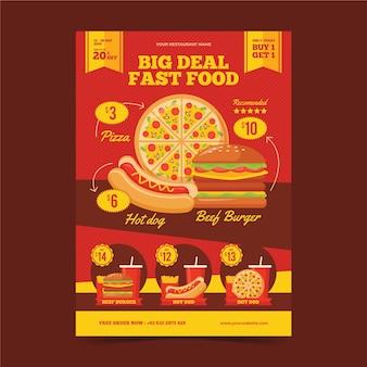 Concepto de cartel de comidas combinadas