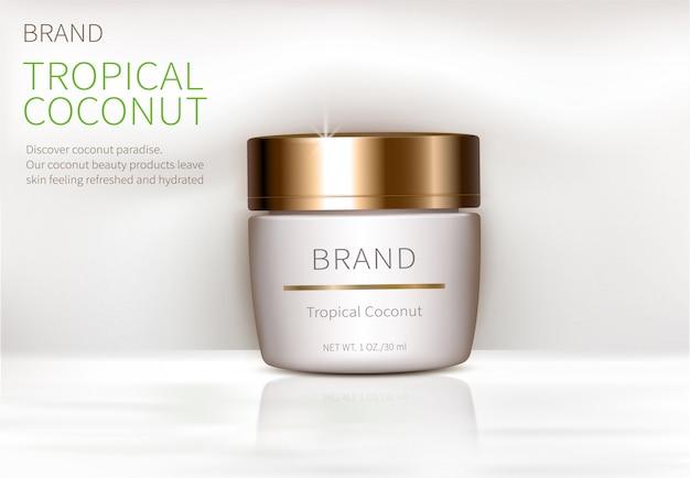 Concepto de cartel para crema natural orgánica.