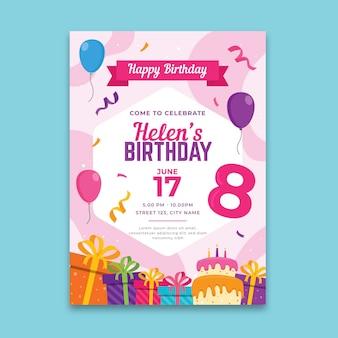 Concepto de cartel de cumpleaños