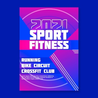 Concepto de cartel de evento deportivo 2021