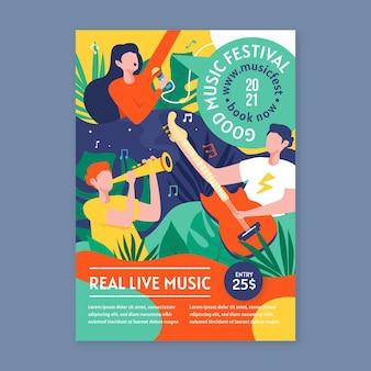 Concepto de cartel de evento musical 2021