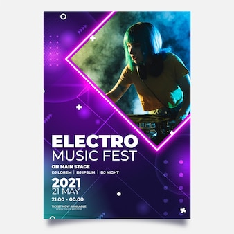 Concepto de cartel de evento musical 2021