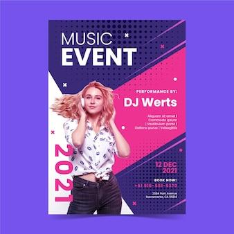 Concepto de cartel del festival de música