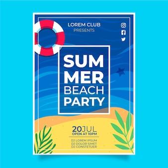 Concepto de cartel de fiesta de verano