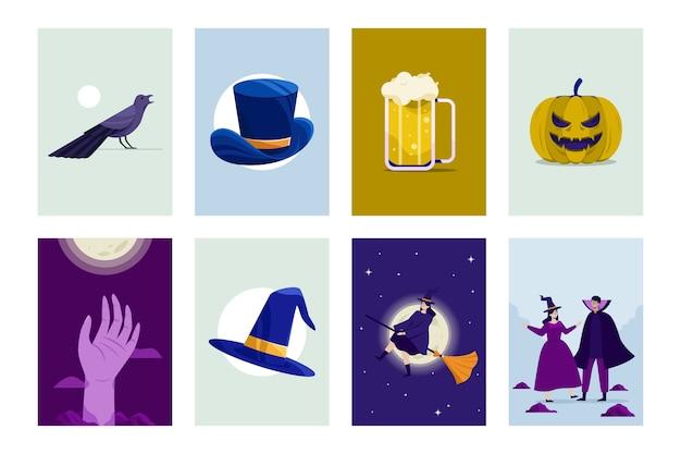 Concepto de cartel de halloween
