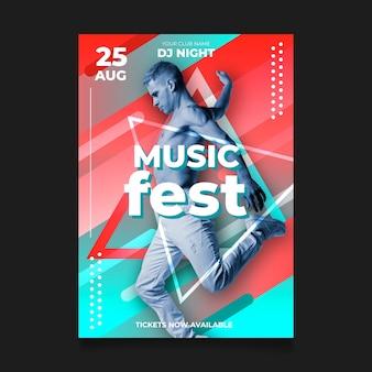 Concepto de cartel de música abstracta