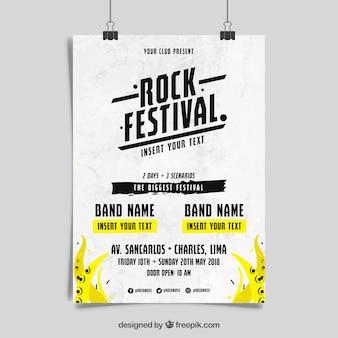 Concepto de cartel de música rock n roll